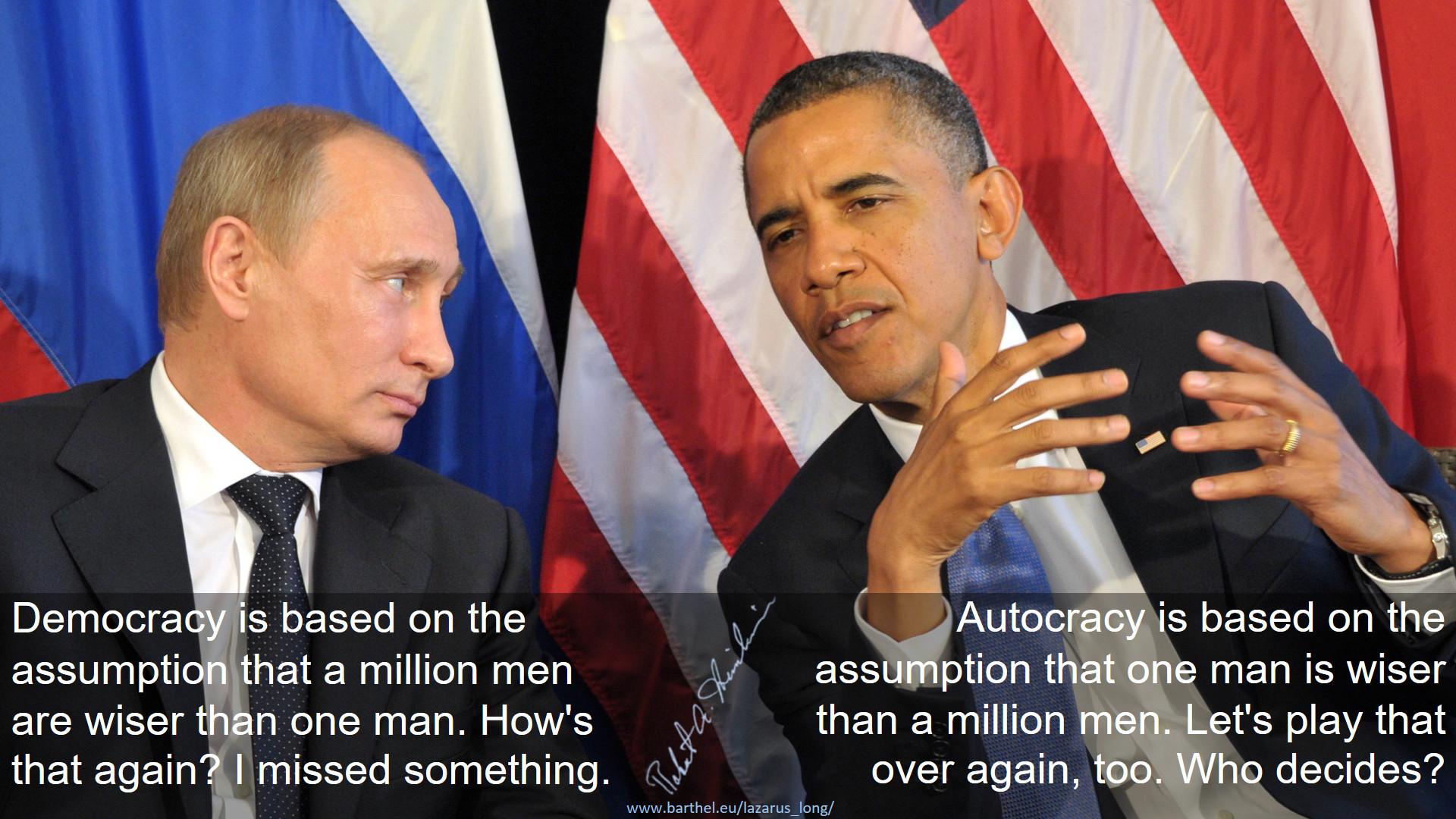 Democracy vs. Autocracy
