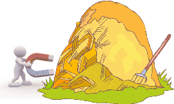 Use a magnet to find the needle in the haystack
