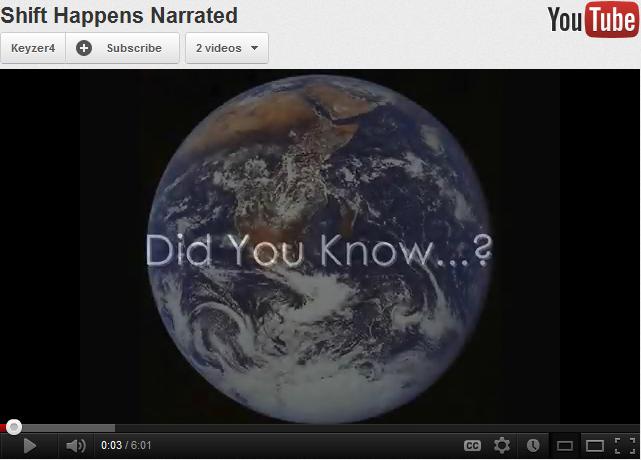 Shift Happens YouTube screenshot