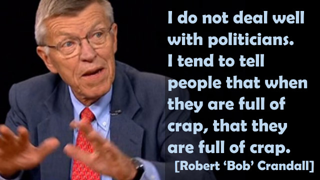 Bob Crandall about Politicians
