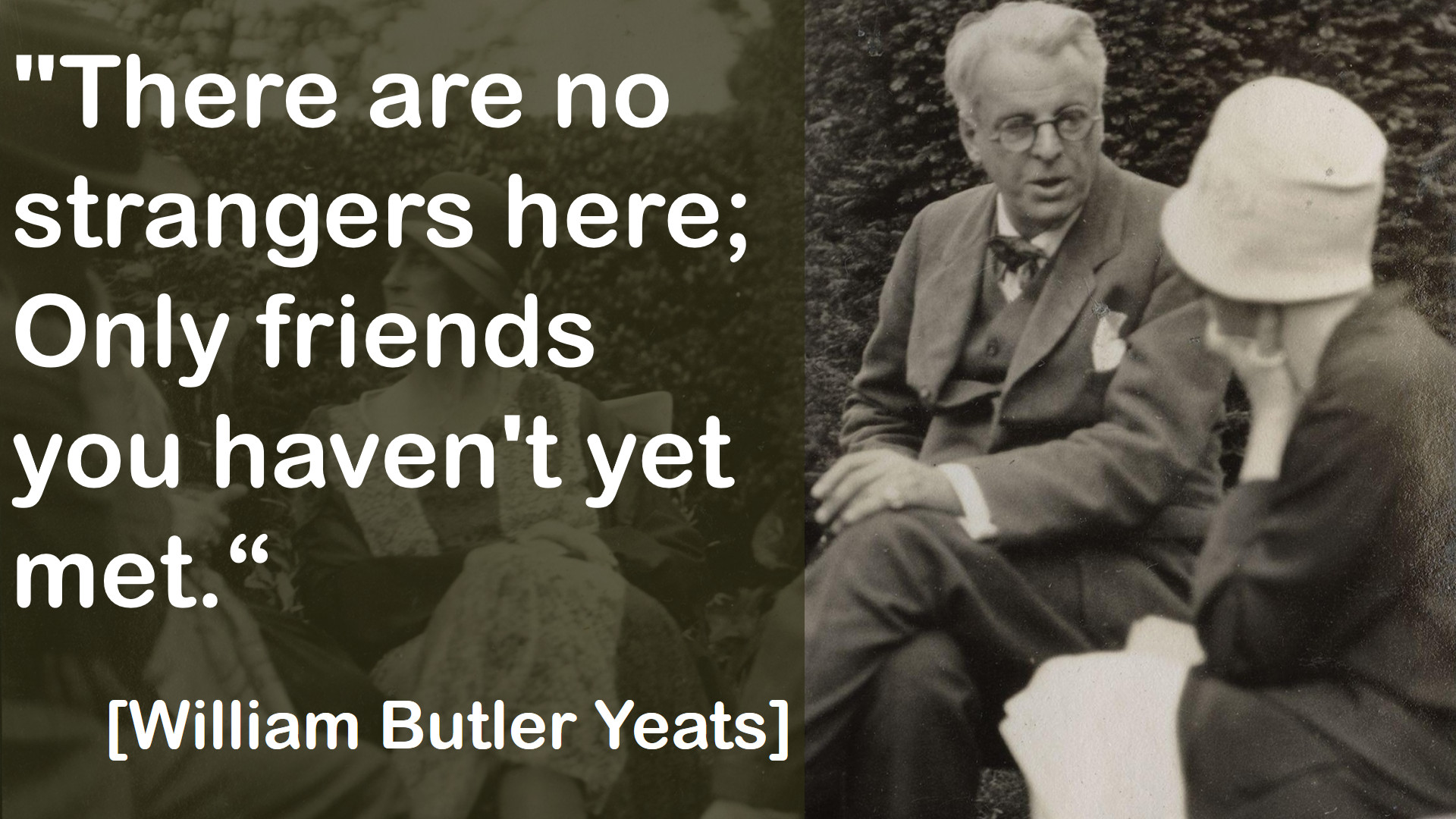william butler yeates essay A prayer for my daughter by william butler yeats opens with an image of the new born kid kiping in a cradle a storm is ramping with great rage outside his abode a great somberness is on yeats head and is consumed with anxiousness as to how to protect his kid from the tide of read more.
