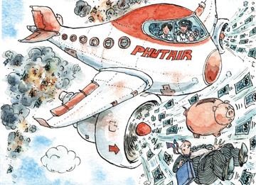 airline money burn