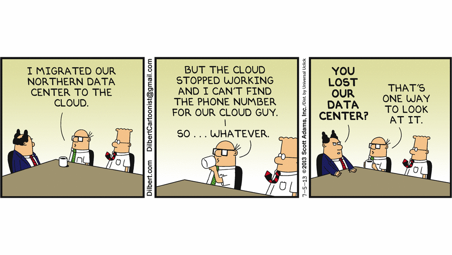 Dilbert Lost Cloud