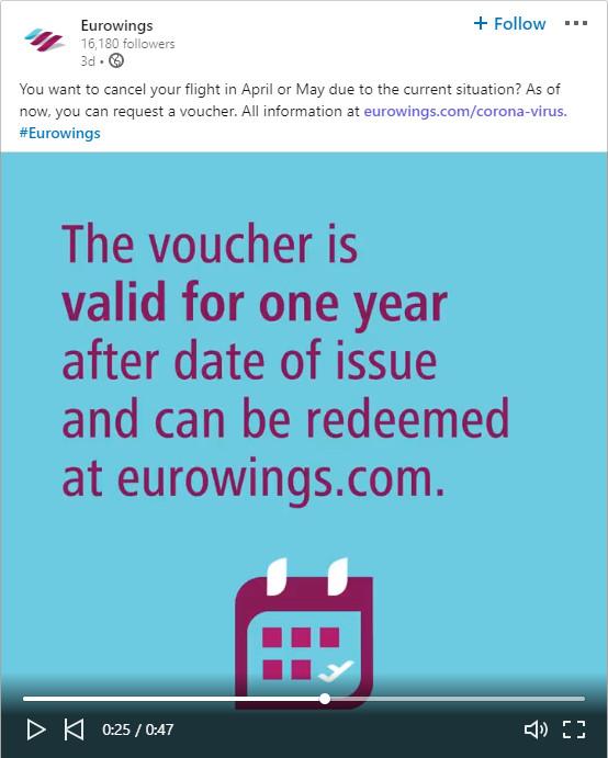 Corona Eurowings Voucher