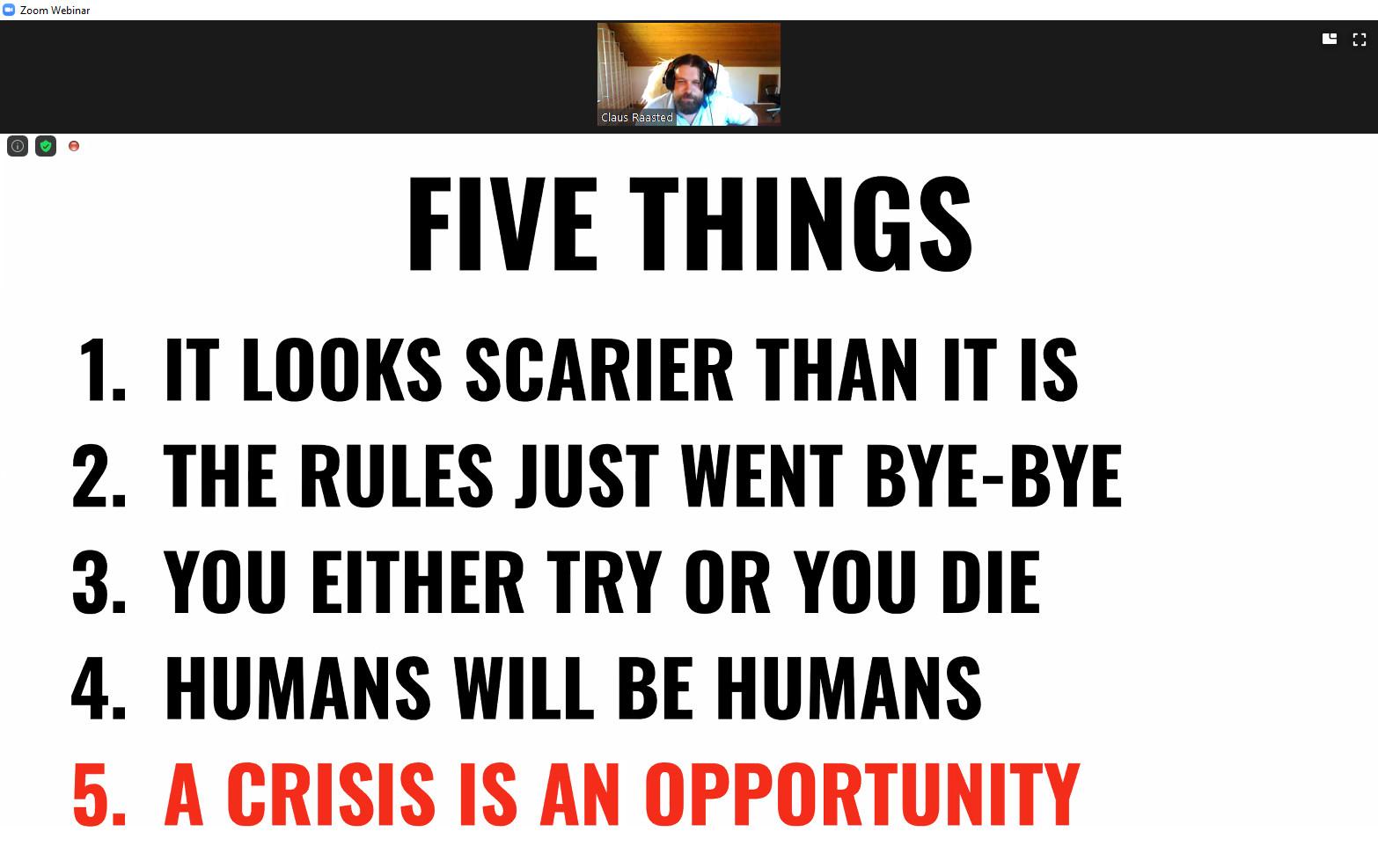 Claus Rasteed - Five Things