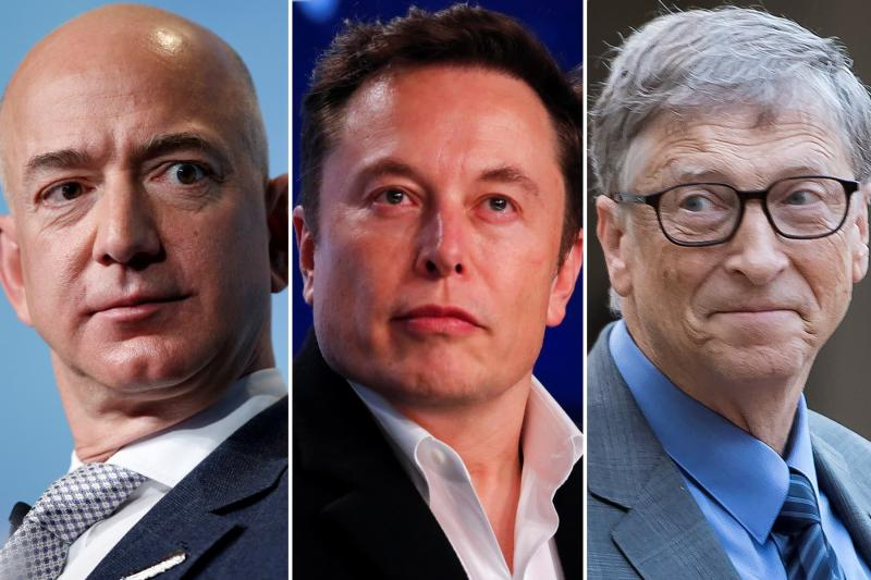 Bezos Musk Gates (c) CNBC
