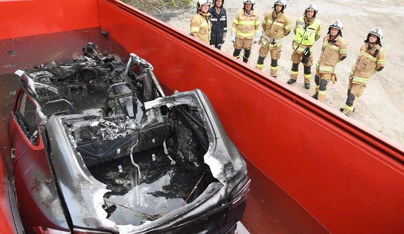 Electric Car Fire - Cooling