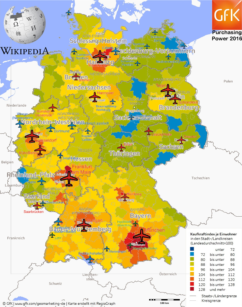 Germany Purchasing Power vs. Airports