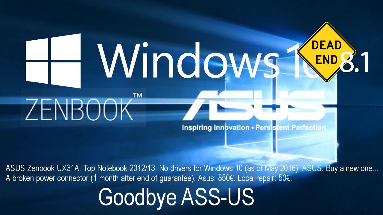 Goodbye ASUS