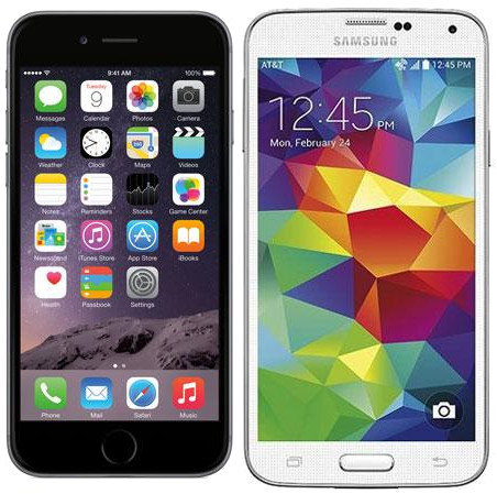 Samsung-S5-vs.-iPhone6