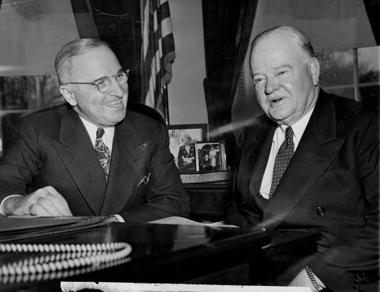 Pres. Truman + J. Edgar Hoover