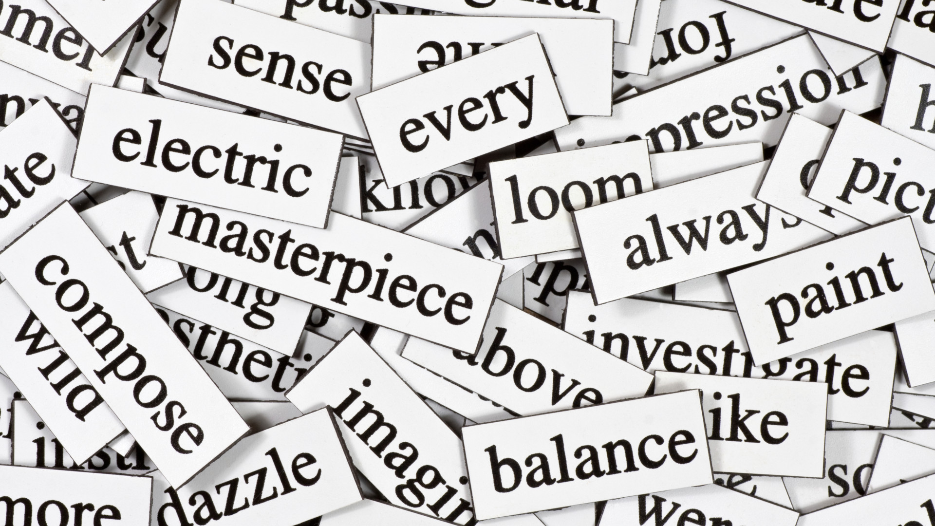 piled words [Unhyping Online Marketing]