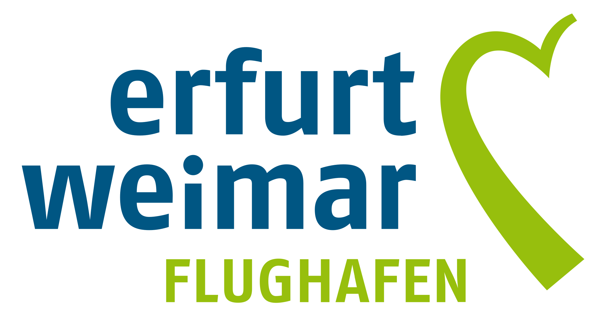 "Logo Erfurt-Weimar Airport (the ""Green Heart of Germany"")"