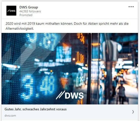 DWS: 2020 wird mit 2019 kaum mithalten können. Doch für Aktien spricht mehr als die Alternativlosigkeit.
