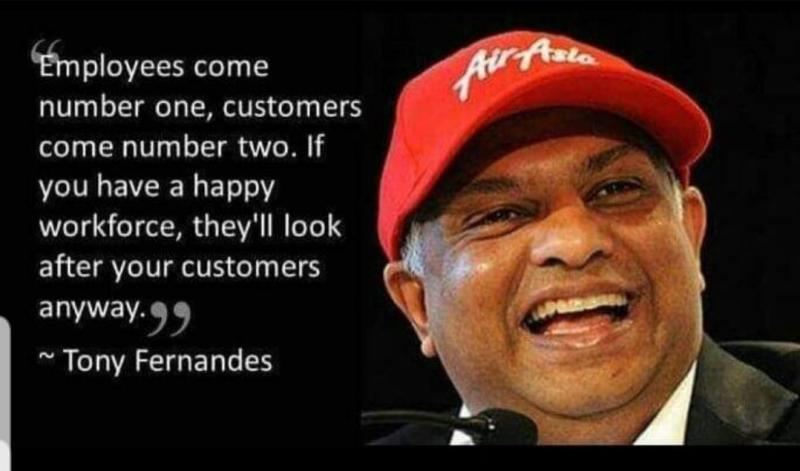 Air Asia CEO Tony Fernandes on staff importance CSR