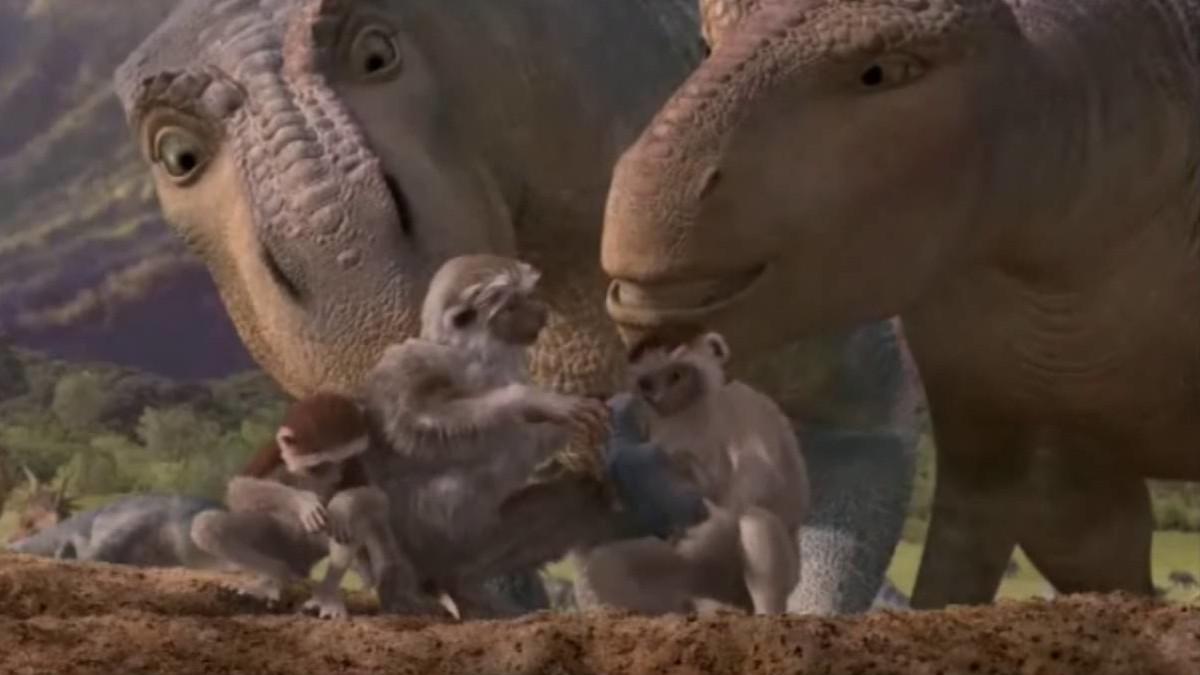 evolution dino vs man